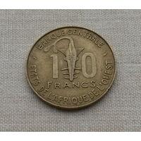 10 франков 1976 г., Центральный банк государств Восточной Африки
