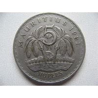 Маврикий 5 рупий 1987 г.