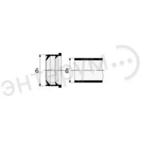 """Переходник сантехнический резиновый 1 1/2"""" х 1 1/4"""" (50 х 40мм.полимерной трубы)"""
