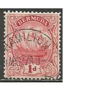 "Бермуды. Парусник ""Sea Venture"". 1912г. Mi#36в."
