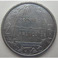 Французская Полинезия 2 франка 2003 г. (m)