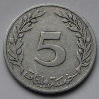 Тунис, 5 миллимов 1960 г
