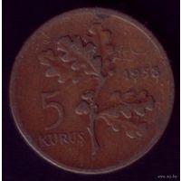 5 куруш 1958 год Турция