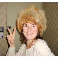 Цена снижена! Лисья шапка :) зимняя меховая женская, натуральный мех (рыжая лиса), обхват 53-55см. Очень тёплая!