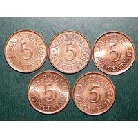 Маврикий 5 центов цена за монету (список)