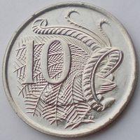 Австралия, 10 центов 1988 года, Елизавета II/ Лирохвост, UNC