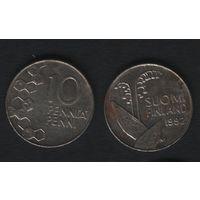 Финляндия km65 10 пенни 1992 год (M) (f36)