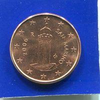 Сан Марино 1 евроцент 2006 UNC