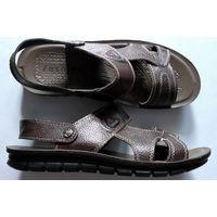 Мужские летние пляжные сандалии из натуральной кожи.Совершенно новые!