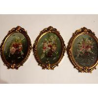 Картины 3 миниатюры масло Италия