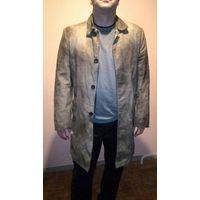 Кожаное пальто. Мужское.