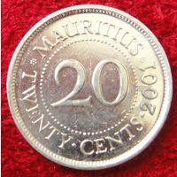 7760:  20 центов 2001 Маврикий