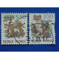 Норвегия 1989,91г. Фауна