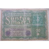 Банкнота 50 марок 1919 года Берлин