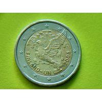 Финляндия, 2 евро 2005, биметалл, 60 лет ООН и 50 лет членству Финляндии в ООН