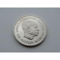 """Сьерра-Леоне. 10 центов 1964 год KM#19  """"Премьер-министр Милтон Маргай"""""""