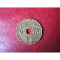 1 цент 1945 (D) год Нидерландская (Голландская) Индия (СОСТОЯНИЕ!!!)