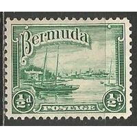 Бермуды. Гавань в Гамильтоне. 1936г. Mi#89.