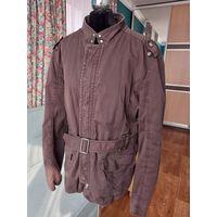 Хлопковая куртка Zara с поясом 48-50 p