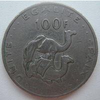 Джибути 100 франков 1977 г.