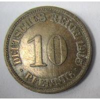 Германия. 10 пфеннигов 1905 F . 1-47
