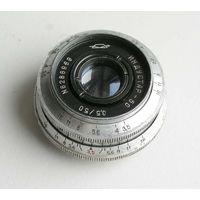Объектив ИНДУСТАР-50 3,5/50 резьба М39 для зеркальных камер 1962 год