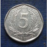 Карибы (Карибские острова) 5 центов 2015