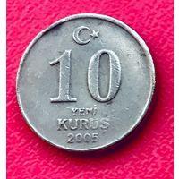 04-30 Турция, 10 куруш 2005 г.