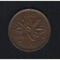 Канада 1 цент 1941 г. Брак! Смещение реверса на 8-10 градусов.
