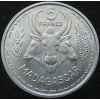 Фр. Мадагаскар 5 франков 1955 (142)