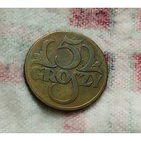 5 грошей Польша 1923 (жёлтая)