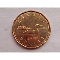 """Канада 1 доллар 1992 """"125 лет конфедерации"""""""