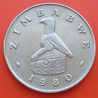50 центов 1980 ЗИМБАБВЕ