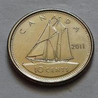 10 центов, Канада 2011 г., UNC