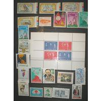Старт с 1 коп. Отличная подборка марок Америки (Северная, Южная, Карибы)**.  74 марок и 3 блока (16 стран- см. описание)+бонус. Хороший каталог! Уйдет за конечную цену!