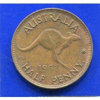 Австралия 1/2 пенни 1963