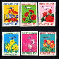 1971 Габон. Цветы и самолёты