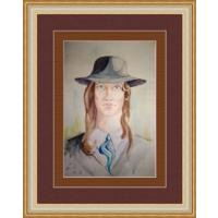 Старый портрет, акварель 90-е