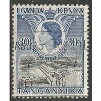 Кения Уганда и Танганьика. Королева Елизавета II. Визит в страну. 1954г. Mi#91.