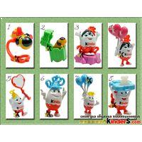 Игрушки из юбилейной серии киндерино номера 1,2,3,4,6,7