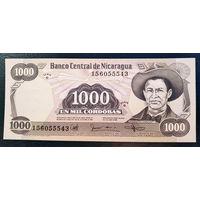 РАСПРОДАЖА С 1 РУБЛЯ!!! Никарагуа 1000 кордоба 1985 год UNC