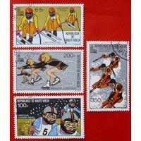 Верхняя Вольта. Спорт. (4 марки ) 1980 года.