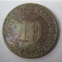 Германия. 10 пфеннигов 1905 J . 1-48