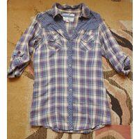 Удлиненная хлопковая рубашка NEXT. 42 р-р