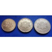 Латвия 10, 20, 50 евроцентов 2014