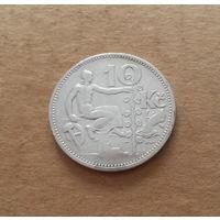 Чехословакия, 10 крон 1932 г., серебро