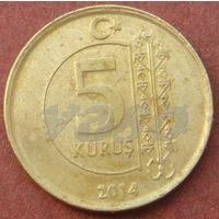6098:  5 курушей 2014 Турция