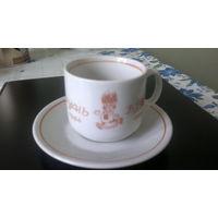 """Кофейная пара """"Рунь"""" 1984-1999, голландский фарфор"""