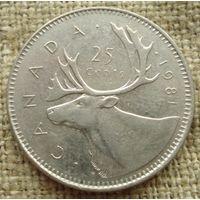 25 центов 1981 Канада