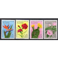 Флора Цветы Алжир 1969 год чистая серия из 4-х марок (М)